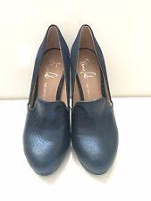 $109 New Franco Sarto Lani Artists Collection Blue Leather Shoe sz 5.5M