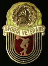 ORIG. SOVIET Latvia USSR Veteran of Sports pin Badge 1970-s #508
