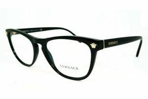 Versace Women's VE3260 GB1 Black Eyeglasses Optical Frame 53mm Authentic NWT