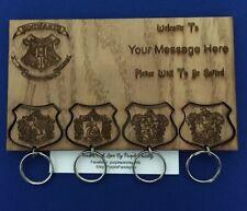 Personalised Laser Engraved Harry Potter Hogwarts Crest Keyring Wall Mounted