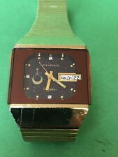 Special CANDINO SAUDI LOGO AUTOMATIC Watch GOLD PLATED Men Rare R1