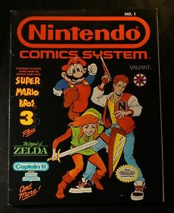 Nintendo Comic Book System Valiant #1 1990 Super Mario Bros. 3 Zelda High Grade