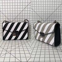 Michael Kors Rose Medium Flap Shoulder Bag Signature PVC Chain Handbag