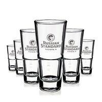 6 x Russian Standard Glas Gläser Vodka Longdrink Stapelbar Gastro Bar NEU