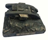 World War One Mark IV Male Tank 1/72 Cold Cast Bronze Military Statue