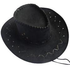 Men Women Vintage Strap Waved Suede Stetson Bailey Cowboy Hat Gift For Friend