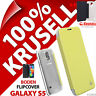 New Krusell Boden Flip Case for Samsung Galaxy S5 Cover Folio PU Leather Yellow