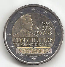 Luxembourg 2 Euros 2018 1ª 50 Anniversaire Constitution Emissions N° 23
