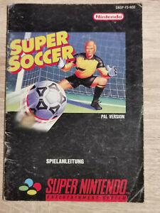 Super Soccer super nintendo Nes Snes ( Manual Only