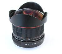 8mm/F3.5 HD Fisheye camera Lens for Canon 400D 300D 450D Rebel T2i T1i XTi XT
