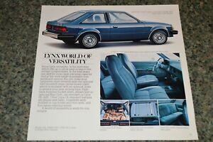 ★★1981 MERCURY LYNX ORIGINAL DEALER ADVERTISEMENT PRINT AD 81 DARK BLUE METALLIC