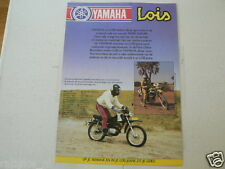 Y292 YAMAHA BROCHURE MOPED AND LOIS JEANS ANNE KIES 1982 XT500 DUTCH 2 PAGES