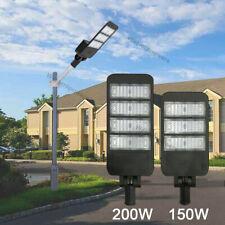 150W 200W LED Parking Lot Shoebox Street Light Outdoor IP66 Lamp 6000K Fixture