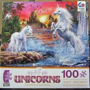 """Ceaco Unicorns The Castle puzzle 100 pieces 15x11"""""""