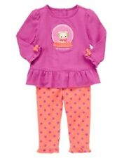 Gymboree Snow Bear Outfit 18-24 month Purple Tunic Top Polka Dot Pants New Girls