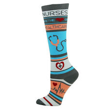 Nurse Healthcare Medical 10-14mmHG Fashion Compression Socks