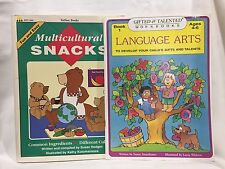 2 PC Lot Language Arts Multicultural Snacks Children's Books Free Ship Lot 39