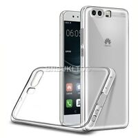 Transparent Clear Silicone Slim Gel Case And Screen Protector For Huawei P10