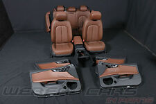Audi A7 4G Ledersitze braun Lederausstattung elektr. Lordose leather seats brown