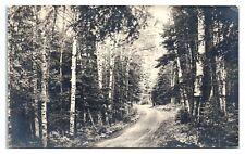 RPPC Henderson's Road, Jackman, Maine Real Photo Postcard *6S(4)7