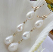 Elegant Women's Earrings Fashion White Akoya Pearl 14k Gold Jewelry earring