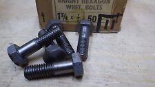 """5 x  1/2"""" x  1 3/4""""  BSW WHITWORTH HEXAGONAL HEAD BOLTS BRIGHT AUTO BOX 11"""