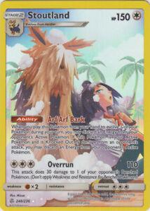 Stoutland (Full Art) - 248/236 Holo Rare SM Cosmic Eclipse Pokemon Card