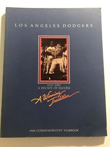 1984 LOS ANGELES DODGERS Yearbook FERNANDO VALENZUELA Decade of Success LASORDA
