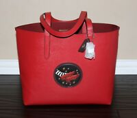 💚 COACH Wizard of Oz Leather Highline Tote Bag Purse Red Ruby Slippers NWT