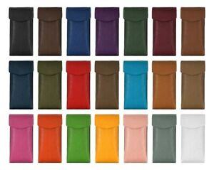 UNISEX Genuine Leather Glasses Case Sleeve Pouch Spec Reading Sun Glasses 2585