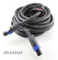 Kirlin 25ft SpeakOn 4C/12AWG NL4FX Pro Audio Speaker Cable w/ NEUTRIK Connectors