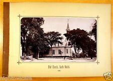 Eliot Church South Natick Massachusetts MA Antique Photograph 1880s rare image
