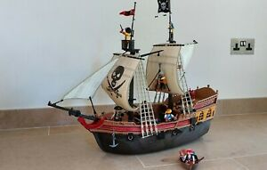 Playmobil 5135 Pirates Ship Set with Rowing Boat