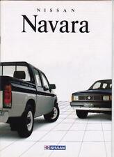 1990 NISSAN NAVARA Range Australian Brochure UTE KING CAB DUAL CAB 4x2 4x4