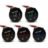 Mini 12V 4Colors LED Digital Display Car SUV Panel Volt Voltage Gauge Meter New