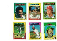 1975 Topps Baseball - Set Break - SINGLES!
