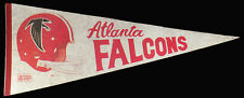 """Vintage 1970's NFL Atlanta Falcons Football Team Souvenir 29""""l Felt Pennant"""