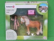 Schleich Horse Club 41431 Pferdepflegerin mit Island Pony Stute Blitzversand DHL