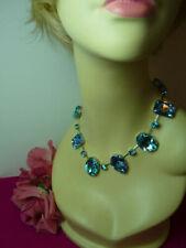 Modeschmuck-Halsketten & -Anhänger im Collier-Stil mit Kristall in Blau