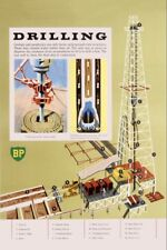 BP Oil drilling Metal Reproduction Poster Sign 18x12