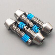 4pcs M6 x 20 Titanium Ti Screw Bolt Allen hex Taper Socket Cap Head+ThreadLocker