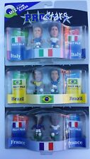Corinthians Prostars Lot of 3 2Pak Soccer figurine – (World Cup) France, Brazil,