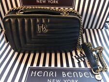 Henri Bendel Black Gold 712 Camera Bag BNWT RARE