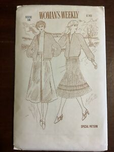 New Vintage WOMAN'S WEEKLY Misses Jacket & Skirt Pattern B743 Size 18