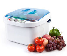 Ultrasonic Ozone Vegetable Fruit Sterilizer Cleaner Washer Health Home Use 12.8L