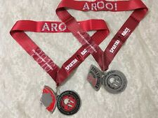 2016 Spartan Race Sprint Finisher Medal w/ Trifecta Wedge & Lanyard- Hawaii