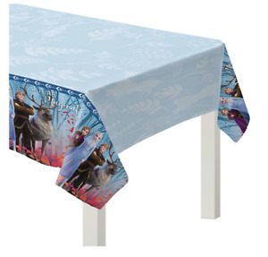 Anna Elsa FROZEN 2 Plastic Table Cover Girls Birthday Party Supplies Decoration