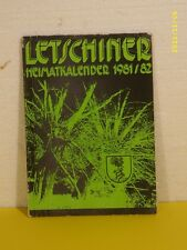Letschiner Heimatkalender 1981/82 - DDR - Letschin