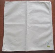 """IVORY CLOTH NAPKINS WITH EMBROIDERED PINK FLOWER SET OF 8 15.5"""" SQUARE"""