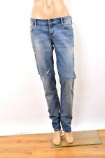 Zu Elements Women Denim Frayed Blue Jeans Slim leg Cotton Tight fit W30 UK12